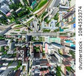 aerial city view with... | Shutterstock . vector #1084353374