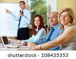 junior businessman presents... | Shutterstock . vector #108435353