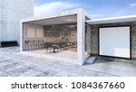 front view cafe shop  ... | Shutterstock . vector #1084367660