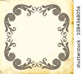 retro baroque decorations... | Shutterstock .eps vector #1084368056