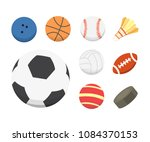 vector cartoon colorful ball... | Shutterstock .eps vector #1084370153