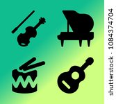 vector icon set about music... | Shutterstock .eps vector #1084374704