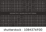 set of abstract geometric... | Shutterstock .eps vector #1084376930