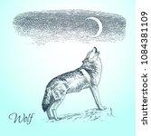 hand drawn vector sketch of... | Shutterstock .eps vector #1084381109
