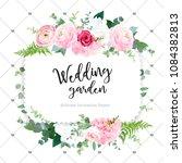 square floral vector design... | Shutterstock .eps vector #1084382813