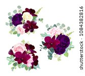Dark Flowers Vector Design...