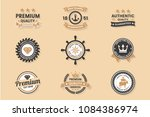 vintage retro vector logo for... | Shutterstock .eps vector #1084386974