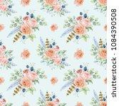watercolor background seamless... | Shutterstock . vector #1084390508
