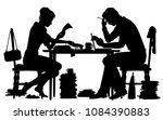 editable vector silhouette of a ... | Shutterstock .eps vector #1084390883