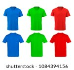 Color t shirts design on white...