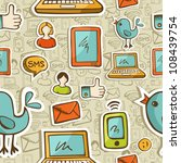 social media cartoon icons... | Shutterstock .eps vector #108439754