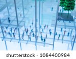 abstract blur background crowd... | Shutterstock . vector #1084400984