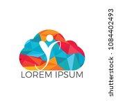 human health logo design.... | Shutterstock .eps vector #1084402493