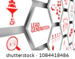lead generation concept cell... | Shutterstock . vector #1084418486