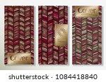vector set packaging templates... | Shutterstock .eps vector #1084418840