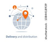 global delivery and... | Shutterstock .eps vector #1084418939