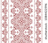 beautiful red and white floral... | Shutterstock .eps vector #1084422596