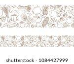 seamless frame border... | Shutterstock . vector #1084427999