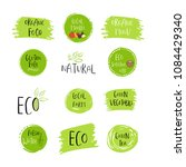 collection of eco  bio green... | Shutterstock . vector #1084429340