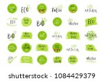 collection of eco  bio green... | Shutterstock . vector #1084429379