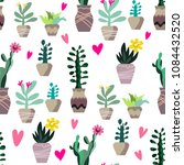 awesome handdrawn seamless... | Shutterstock .eps vector #1084432520