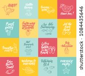 set of hand drawn labels ... | Shutterstock .eps vector #1084435646