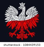 poland eagle in national white  ... | Shutterstock .eps vector #1084439153