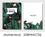 tropical botanical garden... | Shutterstock .eps vector #1084441736