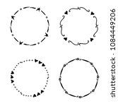 hand drawn creative circle for... | Shutterstock . vector #1084449206