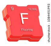 fluorine element symbol from... | Shutterstock . vector #1084451993