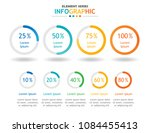 infographic template for... | Shutterstock .eps vector #1084455413