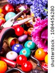 beads  colorful beads for... | Shutterstock . vector #1084456280
