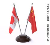 canada and china  two table... | Shutterstock . vector #1084457663
