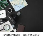 top view travel concept with... | Shutterstock . vector #1084459319