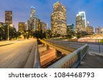 los angeles downtown sunset  la ... | Shutterstock . vector #1084468793