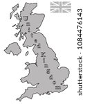 a grey uk map with with text... | Shutterstock .eps vector #1084476143