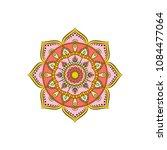 mandala. round ornament floral... | Shutterstock .eps vector #1084477064