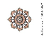 mandala. round ornament floral... | Shutterstock .eps vector #1084477079