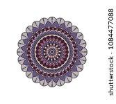 mandala. round ornament floral... | Shutterstock .eps vector #1084477088