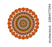 mandala. round ornament floral... | Shutterstock .eps vector #1084477094