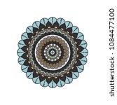 mandala. round ornament floral... | Shutterstock .eps vector #1084477100