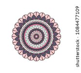 mandala. round ornament floral... | Shutterstock .eps vector #1084477109