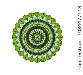 mandala. round ornament floral... | Shutterstock .eps vector #1084477118