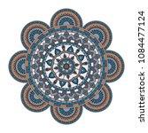 mandala. round ornament floral... | Shutterstock .eps vector #1084477124