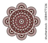 mandala. round ornament floral... | Shutterstock .eps vector #1084477136