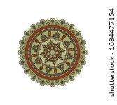 mandala. round ornament floral... | Shutterstock .eps vector #1084477154