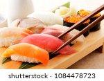 japanese food sushi image | Shutterstock . vector #1084478723