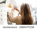 tourist in tallinn  estonia ... | Shutterstock . vector #1084479158