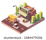vector isometric fish and... | Shutterstock .eps vector #1084479206