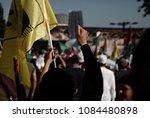 pro palestinian activists... | Shutterstock . vector #1084480898